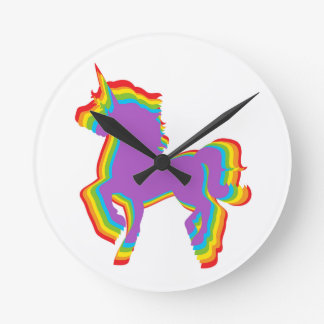 Relógio Redondo Unicórnio do arco-íris de LGBT