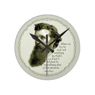Relógio Redondo Universo de Muir