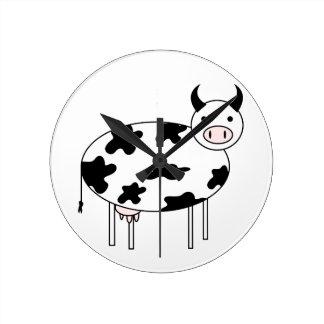 Relógio Redondo Vaca ilustrada