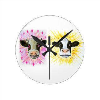 Relógio Redondo Vacas loucas