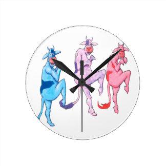 Relógio Redondo Vacas Sneaky