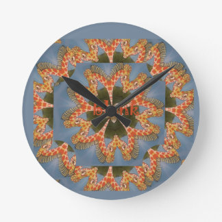 Relógio Redondo Vazio colorido africano surpreendente bonito do