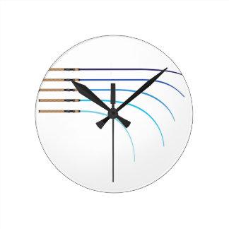Relógio Redondo Vazios curvados da haste da haste de pesca vetor