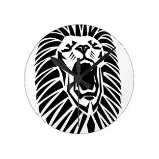 Relógio Redondo vecto principal do leão