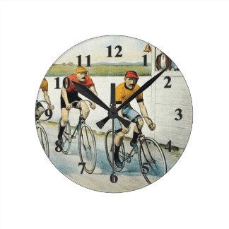 Relógio Redondo Velha escola SUPERIOR do ciclismo