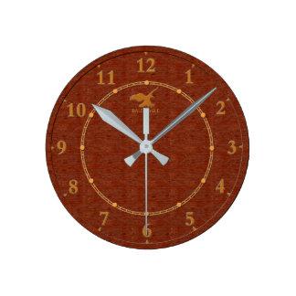 Relógio Redondo Venda moderna decorativa de madeira vermelha do