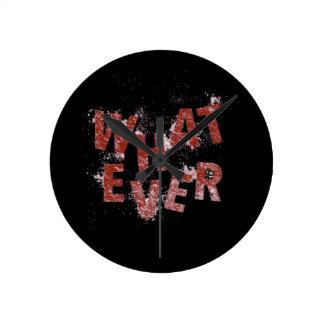 Relógio Redondo Vermelho o que quer que
