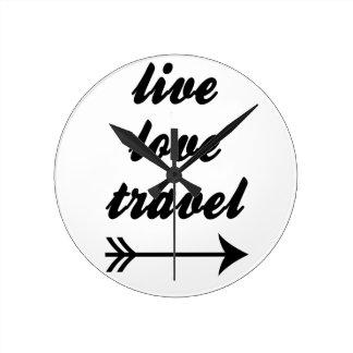Relógio Redondo Viagem vivo do amor