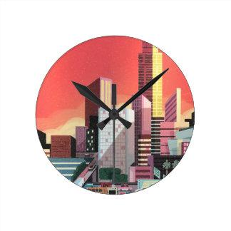 Relógio Redondo Viagens vintage de Los Angeles
