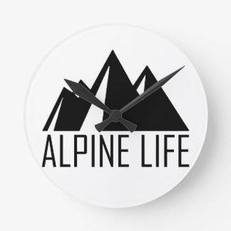 Relógio Redondo Vida alpina