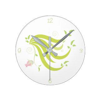 Relógio Redondo Videira com flor