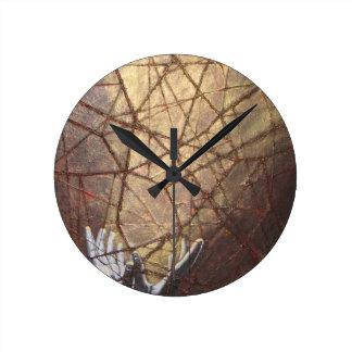 Relógio Redondo Vidro quebrado e luz solar