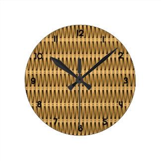 Relógio Redondo Vime natural do bastão