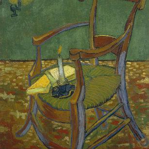 8b9e5c1bdf8 Relógio Redondo Vincent van Gogh - pintura da poltrona de Gauguin