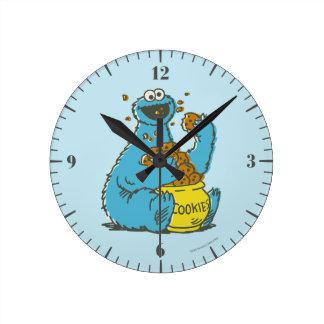 Relógio Redondo Vintage do monstro do biscoito