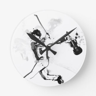 Relógio Redondo Violinista do basebol