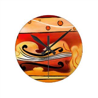 Relógio Redondo Vioselinna - beleza suportada violino