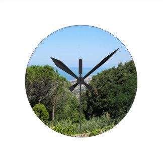 Relógio Redondo Vista aérea panorâmico da cidade de Livorno