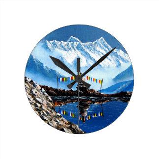 Relógio Redondo Vista panorâmica da montanha Nepal de Annapurna