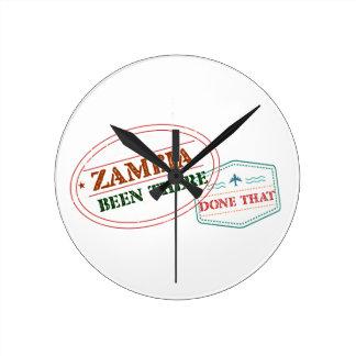 Relógio Redondo Zâmbia feito lá isso