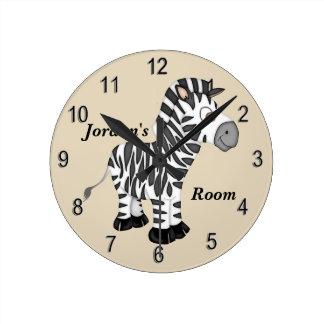 Relógio Redondo Zebra bonito do bebê do pulso de disparo do miúdo