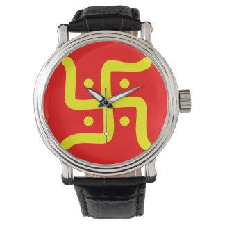 Relógio religião hindu tradicional indiana do símbolo da