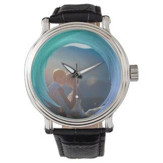 Relógio Respingo na moda feito sob encomenda de turquesa