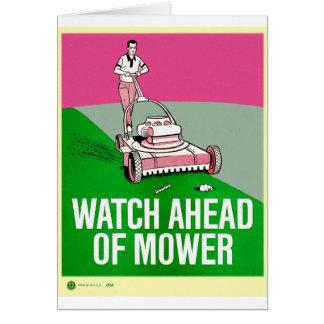 Relógio retro do poster do kitsch do vintage antes cartão