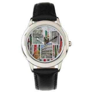Relógio Roma a colagem da cidade eterno