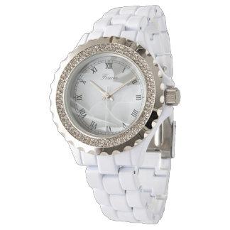 Relógio Rosa branco para sempre