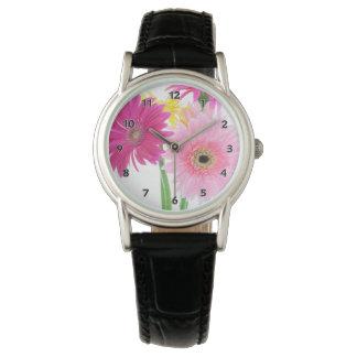 Relógio Rosa da margarida do Gerbera