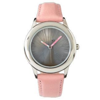 Relógio Rosa de aço inoxidável do pavão