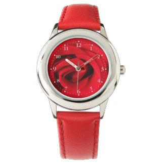 Relógio Rosa vermelha
