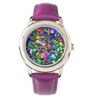 Relógio roxo colorido
