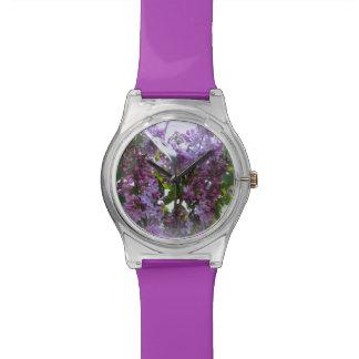 Relógio roxo da flor