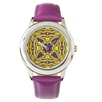Relógio roxo dos miúdos do vintage real