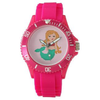 Relógio sereia do oceano do geek do pixel 8Bit