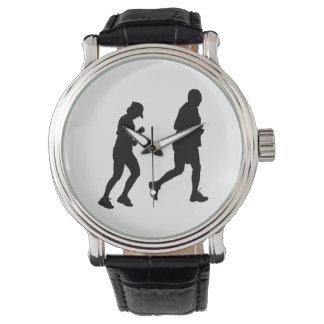 Relógio Silhueta da corrida