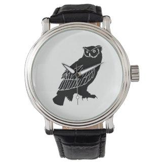 Relógio Silhueta da coruja