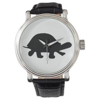 Relógio Silhueta da tartaruga