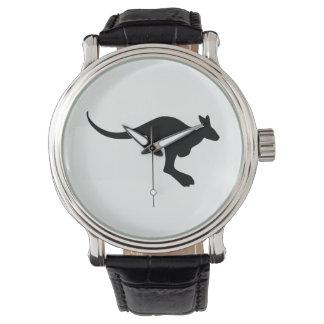 Relógio Silhueta do canguru