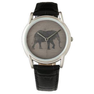 Relógio Silhueta do elefante africano