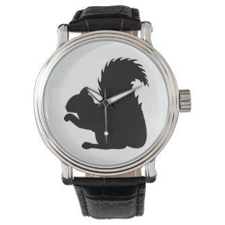 Relógio Silhueta do esquilo