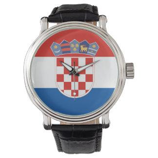Relógio Símbolo da bandeira de país de Croatia por muito