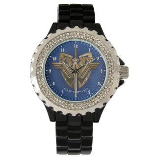 Relógio Símbolo da mulher maravilha com a espada de