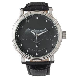 Relógio Símbolo metálico da liga de justiça | Batman