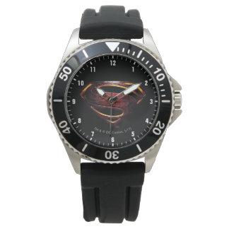 Relógio Símbolo metálico do superman da liga de justiça |