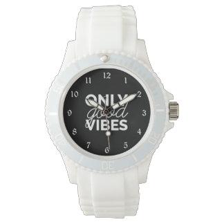Relógio Somente boas impressões preto e branco