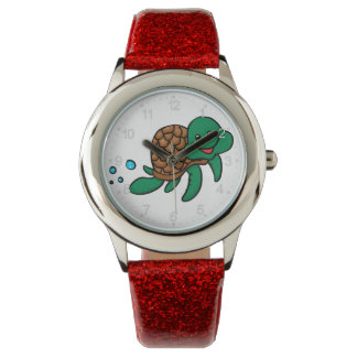 Relógio Tartaruga de mar dos desenhos animados