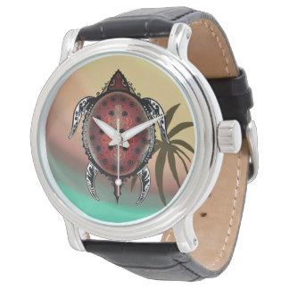 Relógio Tatuagem da tartaruga da fantasia